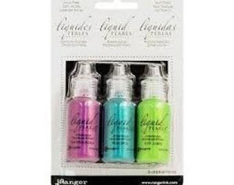 Liquid Pearls Peacock Kit  Set of 3 by Ranger