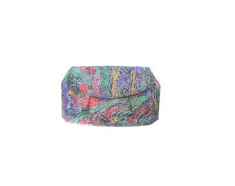 Graffiti Clutch Purse. Vintage 80s New Wave Envelope Purse. Multi Color Clutch
