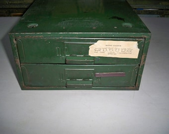 Vintage Union Steelchest Corp. Industrial Two Drawer Utilty Cabinet