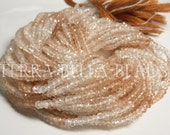 "13"" full strand shaded natural IMPERIAL TOPAZ faceted gem stone rondelle beads 3.5mm"