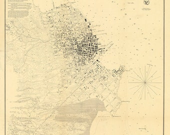 1853 Nautical Chart of San Francisco