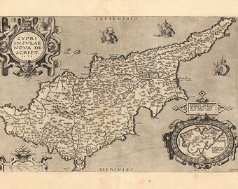 1573 Map of Cyprus