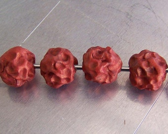 Polymer Clay Beads Copper Lava Beads