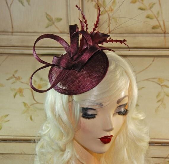 Wine fascinator maroon mini fascinator hat burgundy tea - The splendid transformation of a vineyard in burgundy ...