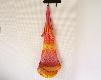 Crochet grocery bag market bag crochet reusable bag gift under 10