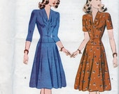 Butterick Retro 1940s WWII dress reissued pattern uncut and factory folded Out of Print new old stock