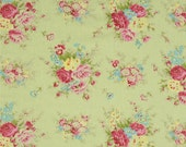 Custom for Deborah - 68068  Tanya Whelan Rosey  Little bouquet in green  PWTW064 -  2 3/4 yards