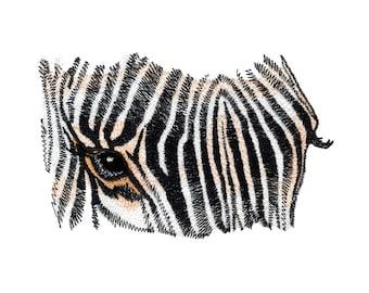 Zebra Eyes Embroidered Flour Sack Hand/Dish Towel
