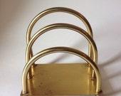 Reserved Mid Century Modern Brass Letter Organizer