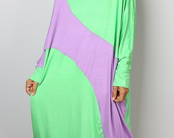Green Dress / Asymmetrical  Dress  / Tunic Dress / Oversized Dress : Urban Chic Collection no.29