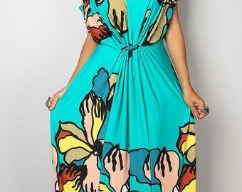 Summer Dress - Trendy Floral Dress : Funky Elegant Collection No.23