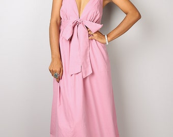 Soft Pink Dress / Pink Maxi Dress / Long Light Pink Evening Gown : Love Party Collection