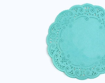 French lace round paper doilies hand dyed |Teal Lace Paper Doilies Designer Blue Weddings | Colored circle doilies Party Decor Scrapbooks
