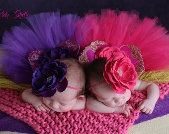 Purple or Fuchsia Pink Newborn Wing Set