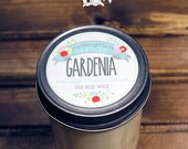 Gardenia Soy Wax Candle in 8 oz. Jelly Jar - Floral Gardenia Candle for Mother's Day, Birthday, Summer, Spring, Housewarming, Hostess Gift