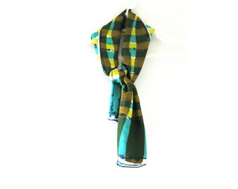 Scarf Silk Vera Checkered Long