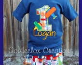 Boys Birthday T-Shirt & Shorts Set Custom Made To Order