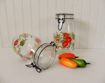 Canning Jars - Niveau De Remplissage France Sealed Canning Jars - Set of 2 French Country Farmhouse