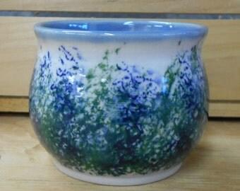 Sponge Stamped Impressionist Tea Bowl Cup Coffee Cup - Food Safe, Microwave and Dishwasher Safe