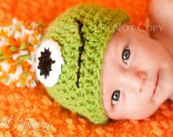 Monster Hat - Baby hat - Winter hat - crochet hat - newborn hat - photo prop - baby boy photo prop - Halloween costume hat