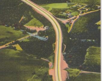 Pennsylvania Turnpike, Aerial View, Pennsylvania  - Vintage Postcard - Postcard - Unused (E1)