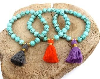 TURQOUISE tassel bracelets