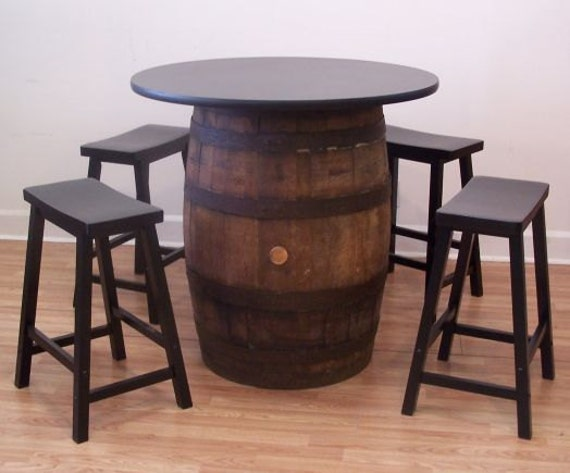 White Oak Whiskey Barrel Table-36