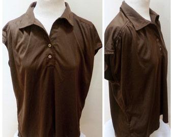 Vintage 70s Sleeveless Top - XL