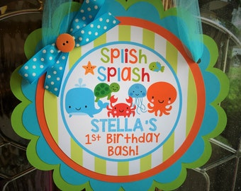 Under the Sea Birthday Party Door Sign