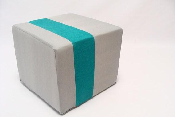 ... Minimalistic Modern Floor Pouf/Unique Side Table/ Zigzag Studio Design