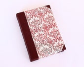 Leather Journal - Red arabesque