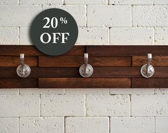 Wood Coat Rack Hanger - Towel Rack - Entryway - Hat Hook - Sale - Entryway Hook - Organize - Metal Hooks - Coat Rack - Coat Hook - House