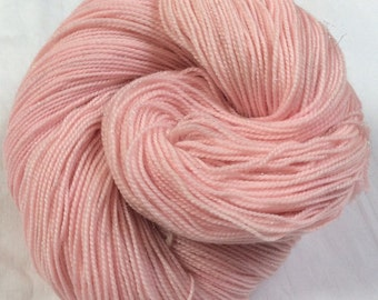 SALE Hand dyed 4ply Sparkle Sock Knitting or Crochet yarn. 'Angel Delight' Colorway