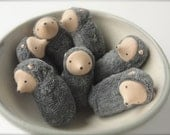 Small mole ornament waldorf toy nature table miniature mole MOL1