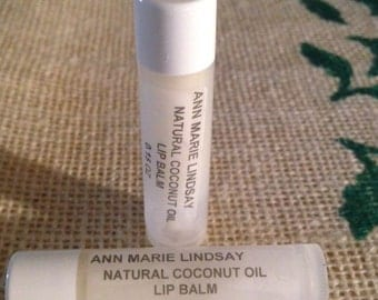 Natural, Organic CoConut Oil Lip Balm,  Lip Conditioners 2 tubes