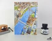 Greeting Card: Explore London