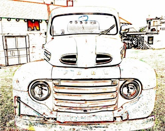 Old Ford Truck art print