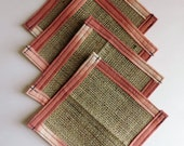 Burlap Coasters - Fabric ...