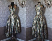 Vintage 1960's Metallic Brocade Style Hostess Dress
