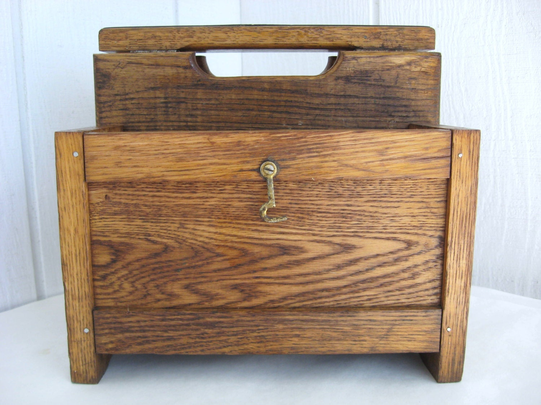 Wood Shoe Shine Box Vintage Boot Polishing Stand Complete Kit
