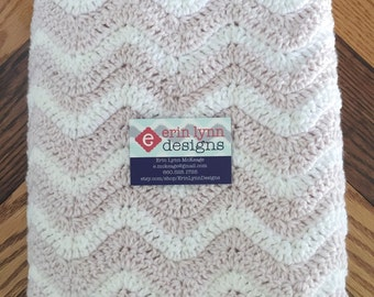 Iced Violet Chevron Baby Afghan