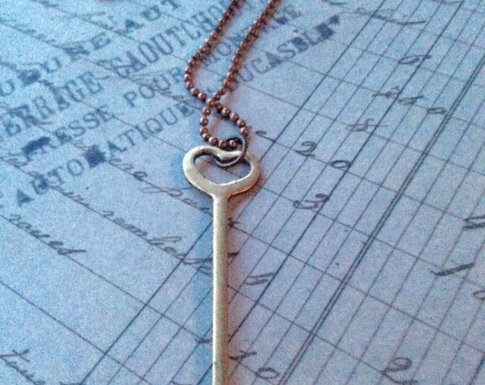 Jewelry Necklace Womens Mini Spoon and Heart Pendant Necklace