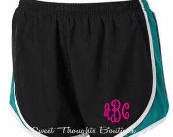 Monogrammed Running Shorts, Monogrammed Athletic Shorts, Monogrammed Gym Shorts, Cheer Shorts