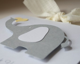 Baby Shower Elephant Gray and Yellow First Birthday Party Neutral