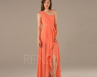Orange bridesmaid dresses | Etsy
