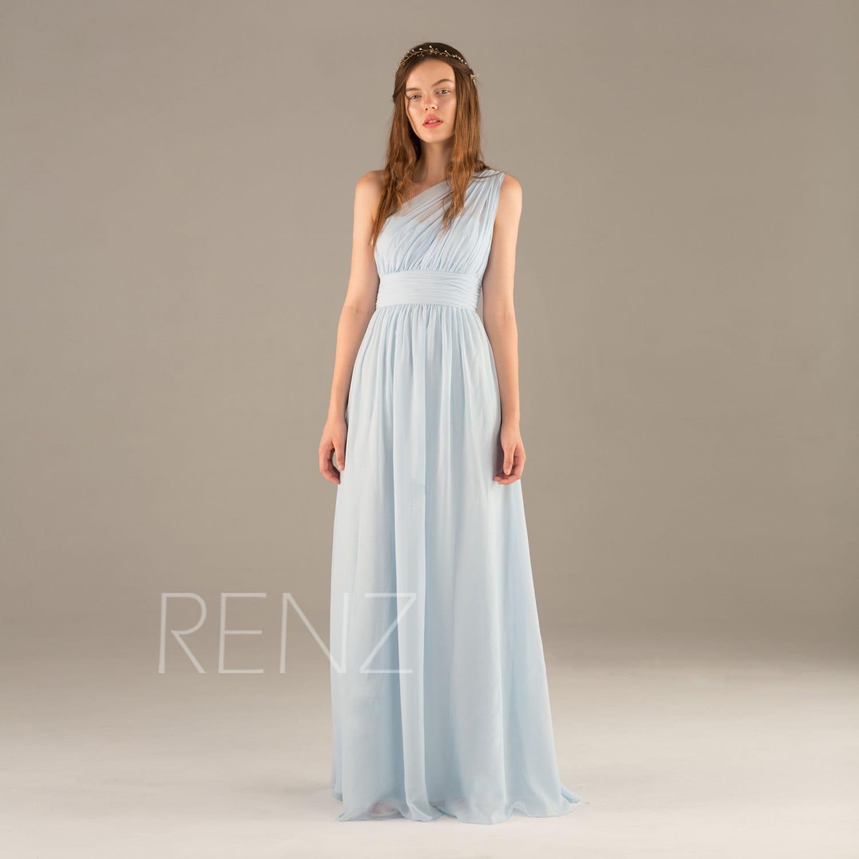 Long light blue bridesmaid dress chiffon maxi dress ice blue zoom ombrellifo Image collections