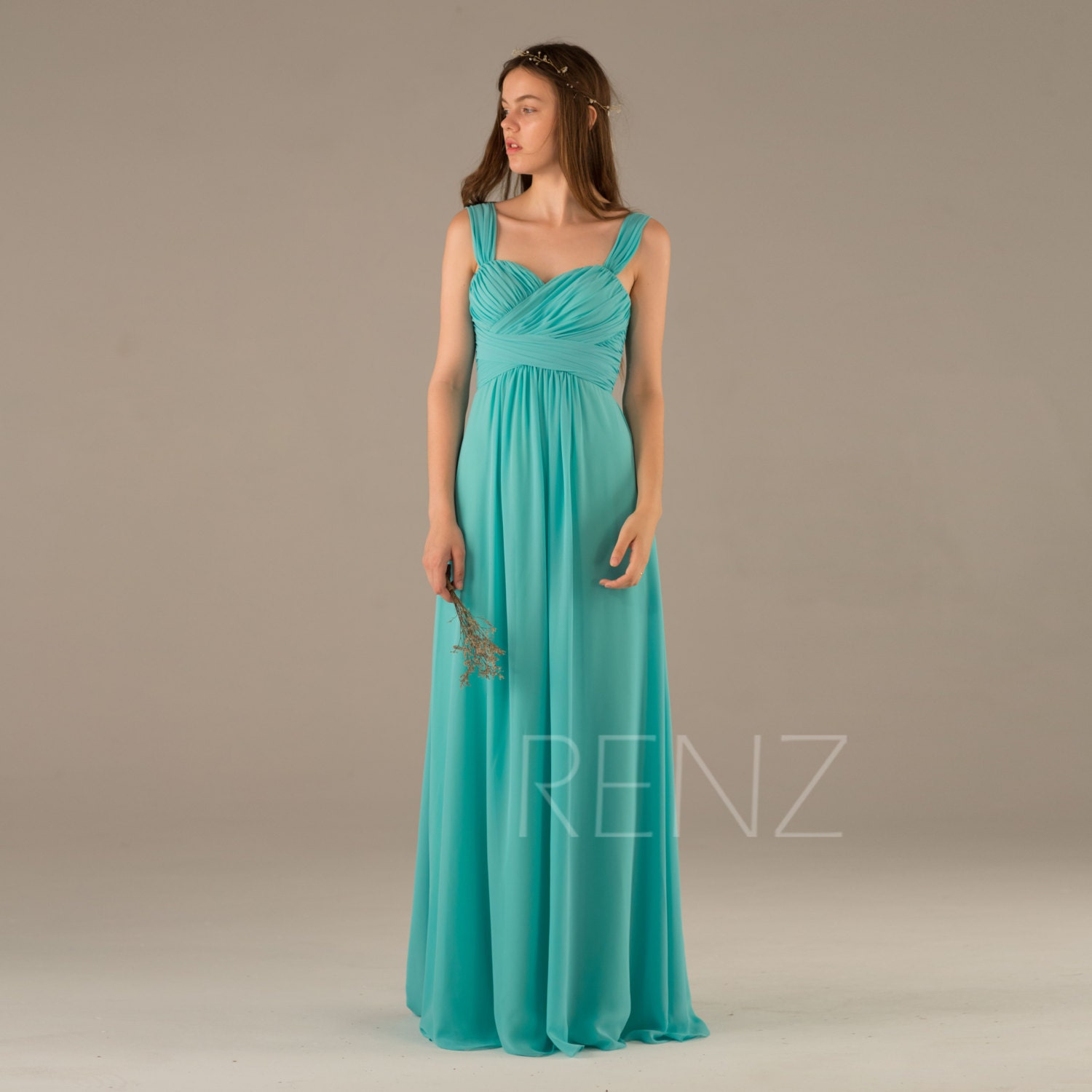 Bridesmaid dress turquoise wedding dresslong criss cross zoom junglespirit Image collections