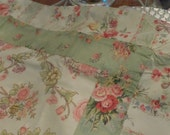 """New VINTAGE cabbage rose Bloomingdales """"Felicity Spring"""" pillowcase/pillows sham"""