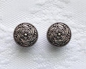 "Silver Ornate Swirl Design Button Vintage Style Wedding Plugs Gauges Size: 1/2"" (12mm), 9/16"" (14mm), 5/8"" (16mm), 3/4"" (20mm)"