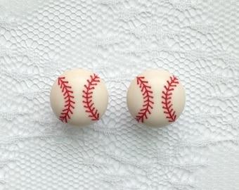 "Baseball Pair Plugs Gauges Size: 0g (8mm), 00g (10mm), 1/2"" (12mm)"